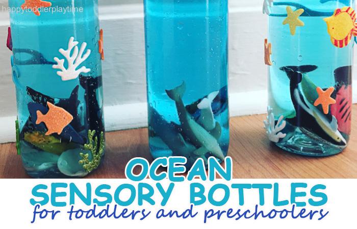ocean sensory bottles for toddlers and preschoolers