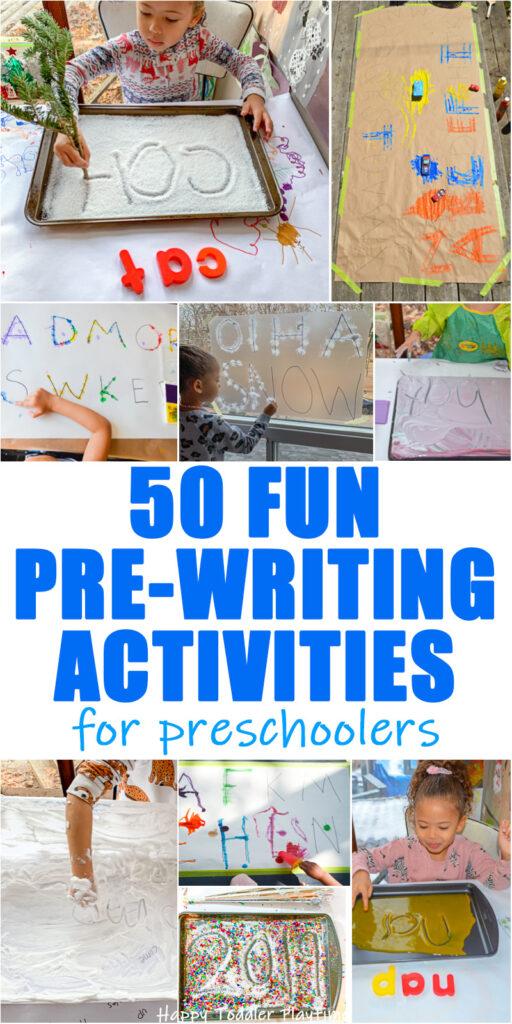 50 Fun Pre-writing Activities for preschoolers