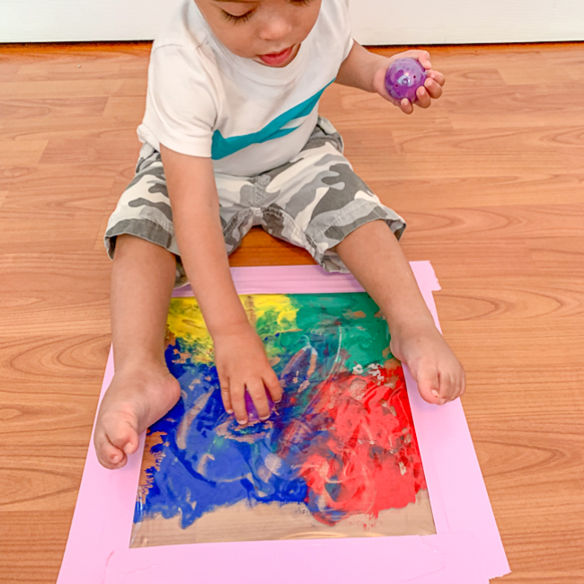 Mess Free painting activity  for babies and toddlers