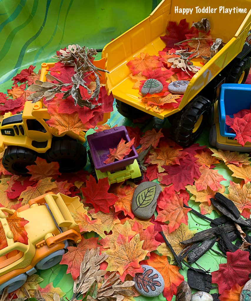 a fun sensory bin pretend play activity for fall for toddlers and preschoolers
