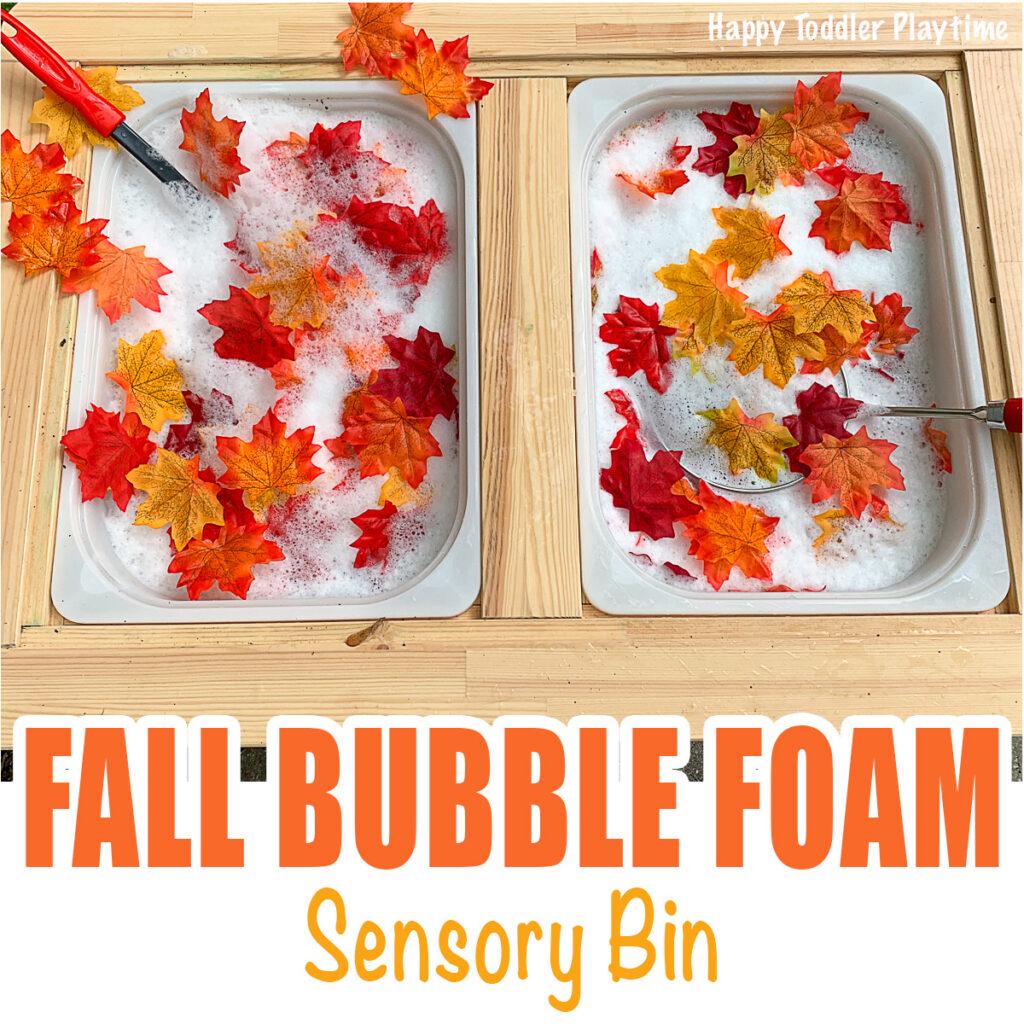 fall bubble foam