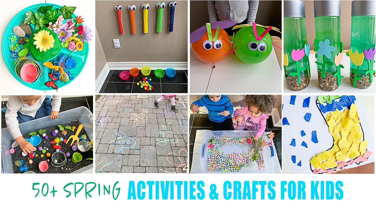 50 Spring Activities For Kids Happy Toddler Playtime