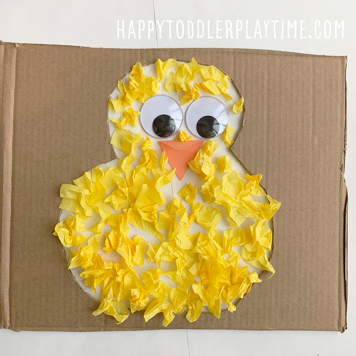 Adorable Tissue Paper Chick Craft