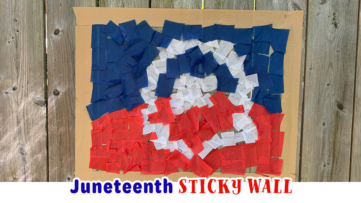 Juneteenth Flag Sticky Wall