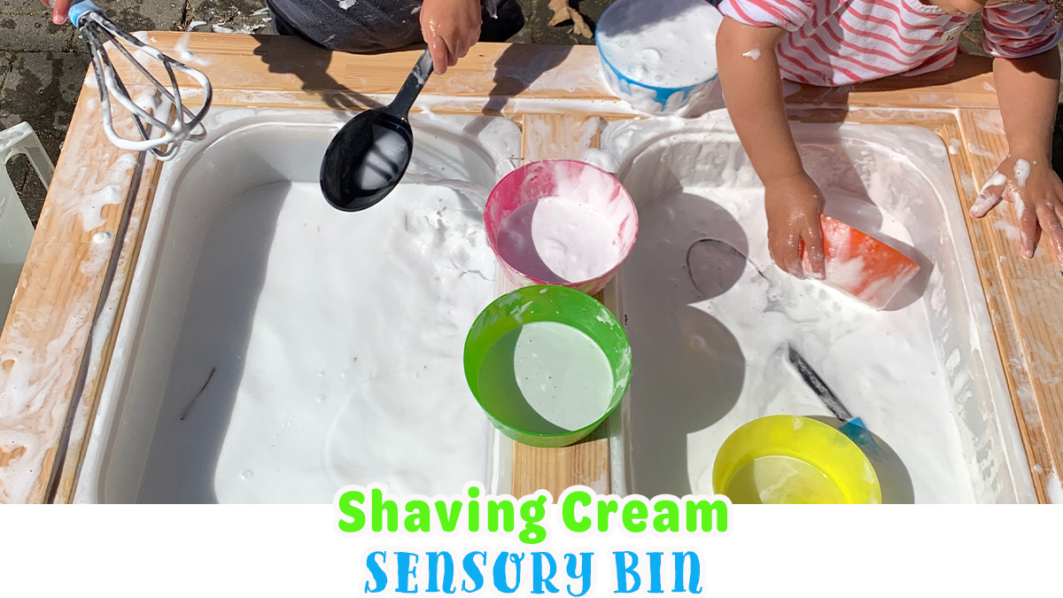 Shaving Cream Sensory Play for Kids