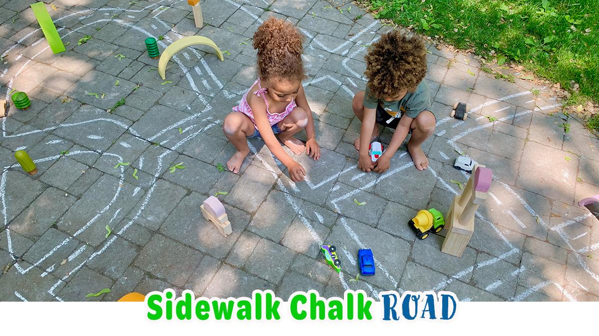 Sidewalk Chalk Road: Easy Summer Activity