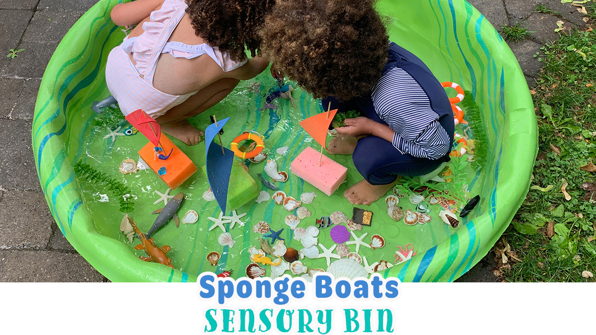 Sponge Boats Sensory Bin