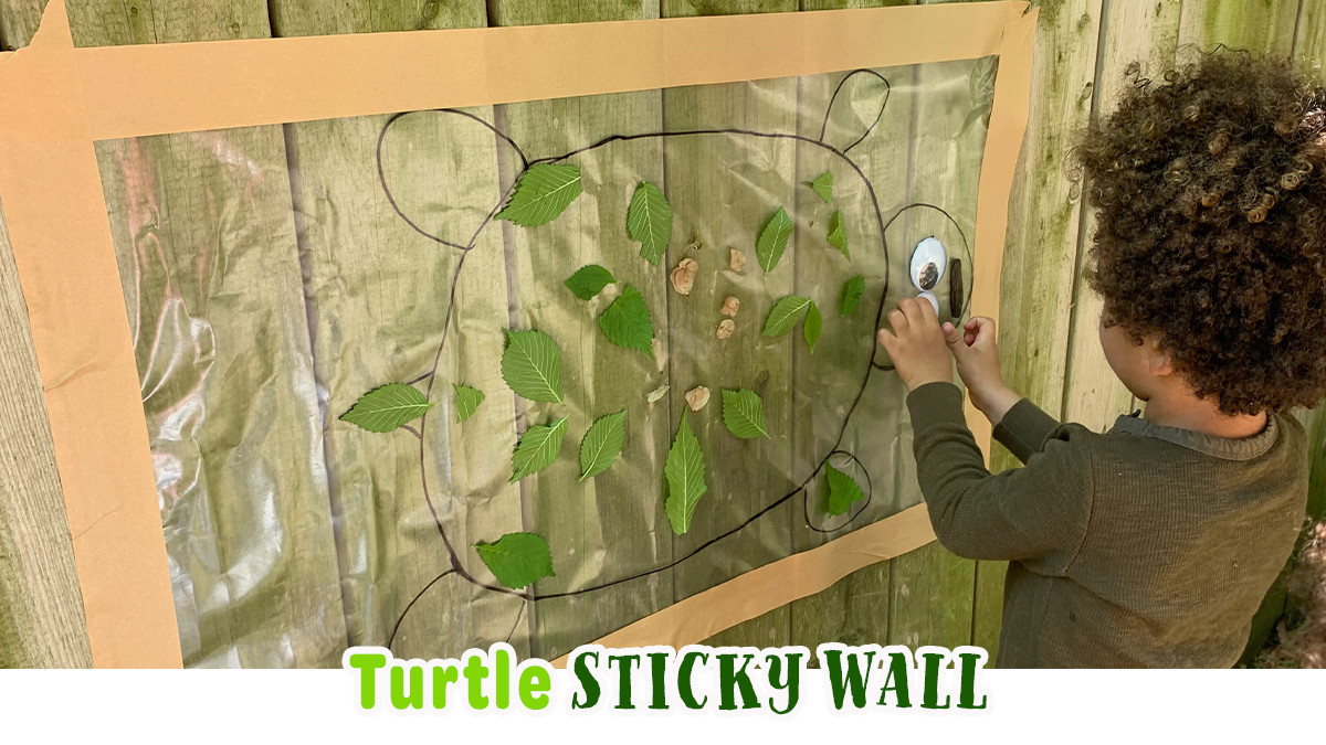 Nature Turtle Sticky Wall: Outdoor Activity