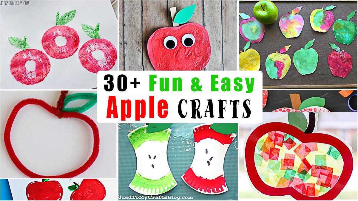 30+ Adorable Apple Crafts for Kids