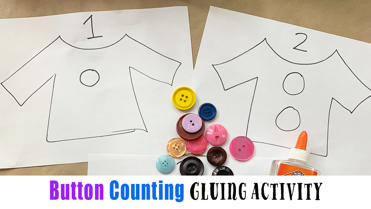Easy Button Counting Activity